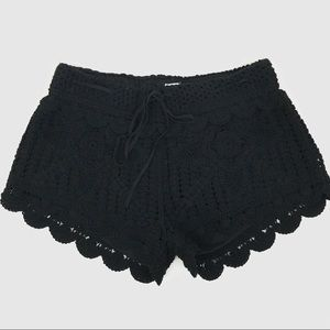 [Surf Gypsy] NWOT Black Crochet Shorts